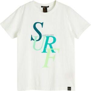 T-Shirt , Organic Cotton weiß Gr. 176 Jungen Kinder