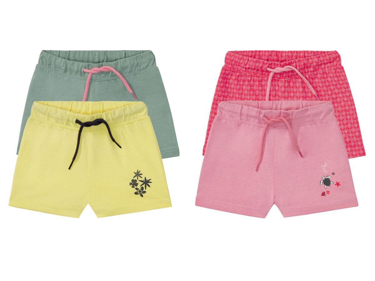 Bild 1 von LUPILU® Kleinkinder Sweatshorts Mädchen, 2 Stück