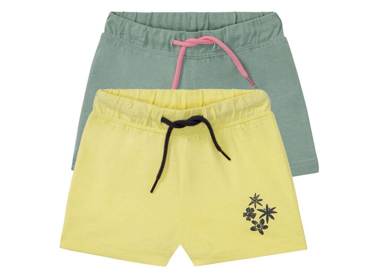 Bild 2 von LUPILU® Kleinkinder Sweatshorts Mädchen, 2 Stück