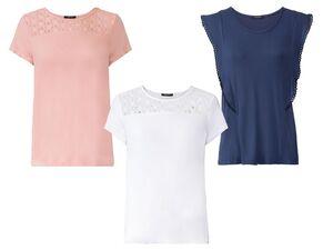 ESMARA® Shirt Damen, mit Rundhalsausschnitt