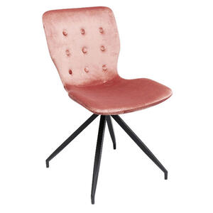 Kare-Design Stuhl samt rosa schwarz  Butterfly Dark Rosa Samt