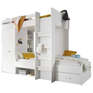 Carryhome Hochbett 90/200 cm weiß  Maxi  Holzwerkstoff