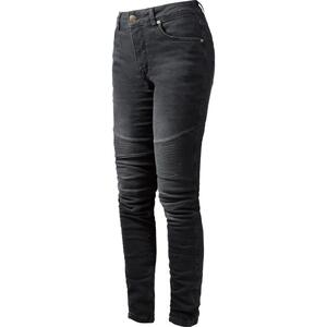 John Doe Betty Biker Damen Jeans schwarz Größe 33/32