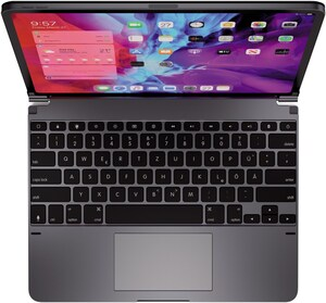 "Bluetooth Tastatur für iPad Pro 12,9"" silber"