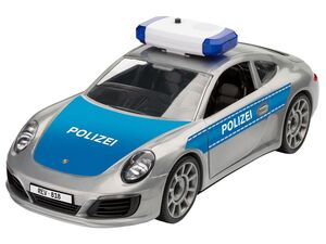 Revell Junior Kit Modellbausatz »Polizei«, Porsche 911, Blaulicht und Sirene, ab 4 Jahren