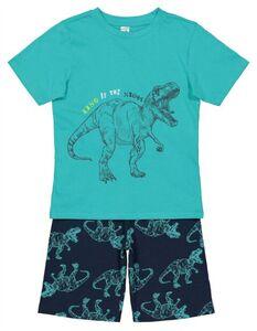 Jungen Pyjama Set aus Shirt und Shorts - Allover-Print