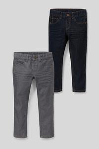 C&A Slim Jeans-2er Pack, Blau, Größe: 98