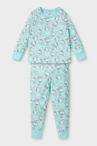 C&A Hello Kitty-Pyjama-Bio-Baumwolle-2 teilig, Türkis, Größe: 98