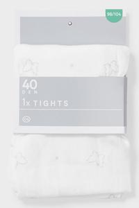 C&A Feinstrumpfhose-40 DEN, Weiß, Größe: 146/152