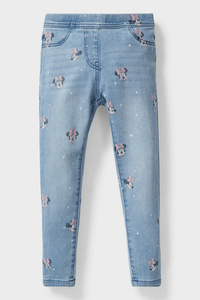 C&A Minnie Maus-Jegging Jeans, Blau, Größe: 98