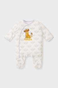 C&A Der König der Löwen-Baby-Schlafanzug-Bio-Baumwolle, Weiß, Größe: 46