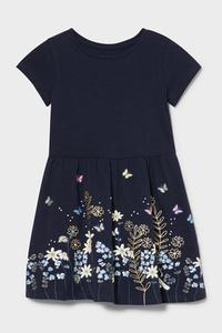 C&A Kleid-Bio-Baumwolle, Blau, Größe: 122