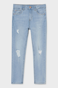 C&A Skinny Jeans, Blau, Größe: 140