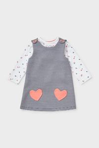 C&A Baby-Outfit-2 teilig, Blau, Größe: 74