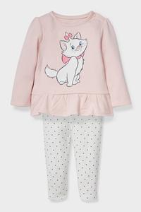C&A Aristocats-Baby-Outfit-Bio-Baumwolle-2 teilig, Rosa, Größe: 62