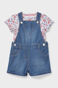 C&A Baby-Outfit-2 teilig, Blau, Größe: 62