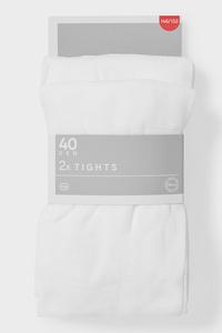 C&A Multipack 2er-Feinstrumpfhose-40 DEN, Weiß, Größe: 158/164
