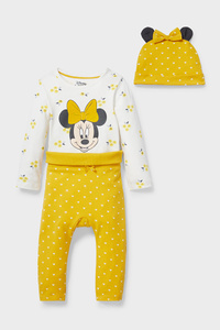 C&A Minnie Maus-Baby-Outfit-Bio-Baumwolle-3 teilig, Gelb, Größe: 56