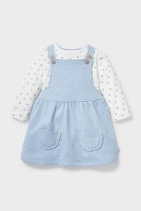 C&A Baby-Outfit-Bio-Baumwolle-2 teilig, Blau, Größe: 80