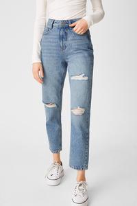 C&A CLOCKHOUSE-Mom Jeans, Blau, Größe: 42