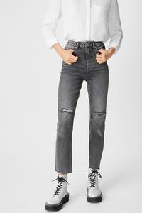 C&A CLOCKHOUSE-Straight Jeans, Grau, Größe: 34
