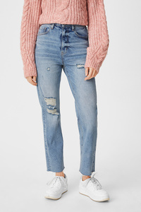 C&A CLOCKHOUSE-Straight Jeans-recycelt, Blau, Größe: 40