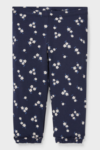 C&A Capri-Leggings-Bio-Baumwolle, Blau, Größe: 104