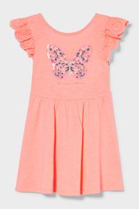 C&A Kleid-Glanz-Effekt, Rosa, Größe: 134