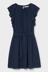 C&A Kleid-gepunktet, Blau, Größe: 104