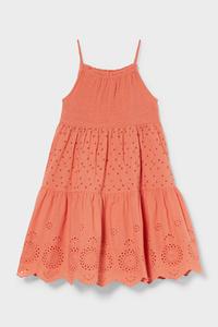C&A Kleid-Bio-Baumwolle, Orange, Größe: 92