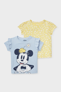 C&A Multipack 2er-Minnie Maus-Baby-Kurzarmshirt, Gelb, Größe: 62