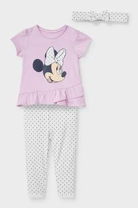 C&A Minnie Maus-Baby-Outfit-Bio-Baumwolle-3 teilig, Lila, Größe: 80