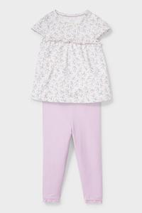 C&A Baby-Outfit-Bio-Baumwolle-2 teilig, Lila, Größe: 62