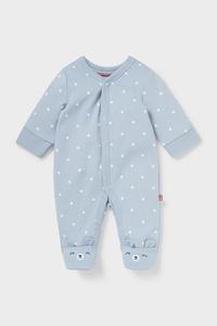 C&A Baby-Schlafanzug-Bio-Baumwolle, Blau, Größe: 42