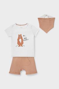 C&A Baby-Outfit-Bio-Baumwolle-3 teilig, Beige, Größe: 56