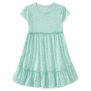 Mädchen Kleid mit Pünktchen allover
