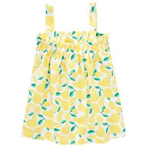 Mädchen Top mit Zitronen allover