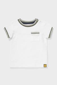 C&A Baby-Kurzarmshirt-Bio-Baumwolle, Weiß, Größe: 92