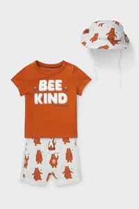 C&A Baby-Outfit-Bio-Baumwolle-3 teilig, Braun, Größe: 62