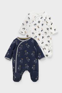 C&A Multipack 2er-Baby-Schlafanzug-Bio-Baumwolle, Blau, Größe: 46