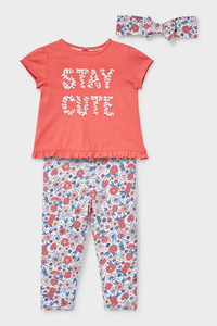 C&A Baby-Outfit-Bio-Baumwolle-3 teilig, Rot, Größe: 62