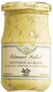 Edmond Fallot Moutarde au Basilic - Dijon-Senf mit Weißwein und ..., Frankreich, 0.2050 kg