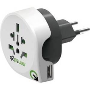 Q2 Power 1.100210 Reiseadapter Welt nach Schweiz mit USB