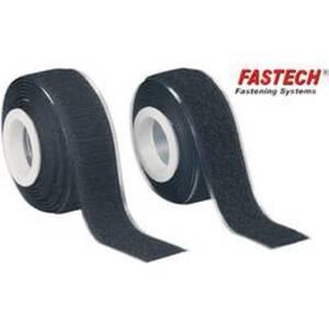 FASTECH® 919-330 Klettband zum Aufkleben Haft- und Flauschteil (L x B) 2000 mm x 25 mm Schwarz 1 Paar