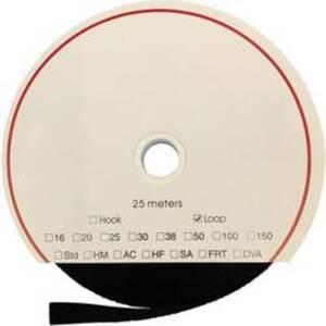 FASTECH® T0202599990225 Klettband zum Aufkleben Acrylat Flauschteil (L x B) 25000 mm x 25 mm Schwarz 25 m