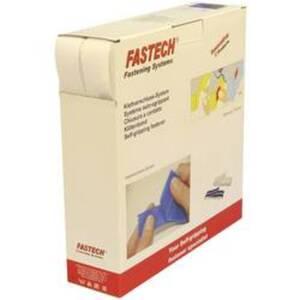 FASTECH® B30-SKL000025 Klettband zum Aufkleben Hotmelt Haft- und Flauschteil (L x B) 25000 mm x 30 mm Weiß 25 m