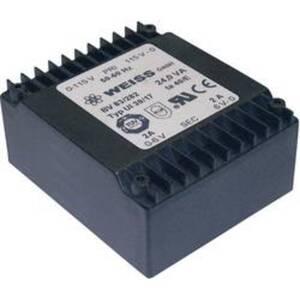 Weiss Elektrotechnik 83/287 Printtransformator 2 x 115 V 2 x 18 V/AC 24 VA 667 mA