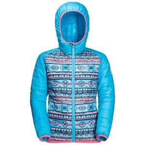 Jack Wolfskin Zenon Print Jacket Kids Winddichte Winterjacke Kinder 164 blau atoll blue all over