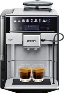 SIEMENS Kaffeevollautomat EQ.6 plus s700 TE657503DE, automatische Reinigung, zwei Tassen gleichzeitig, 4 individuelle Profile, beleuchtetes Tassenpodest, Edelstahl