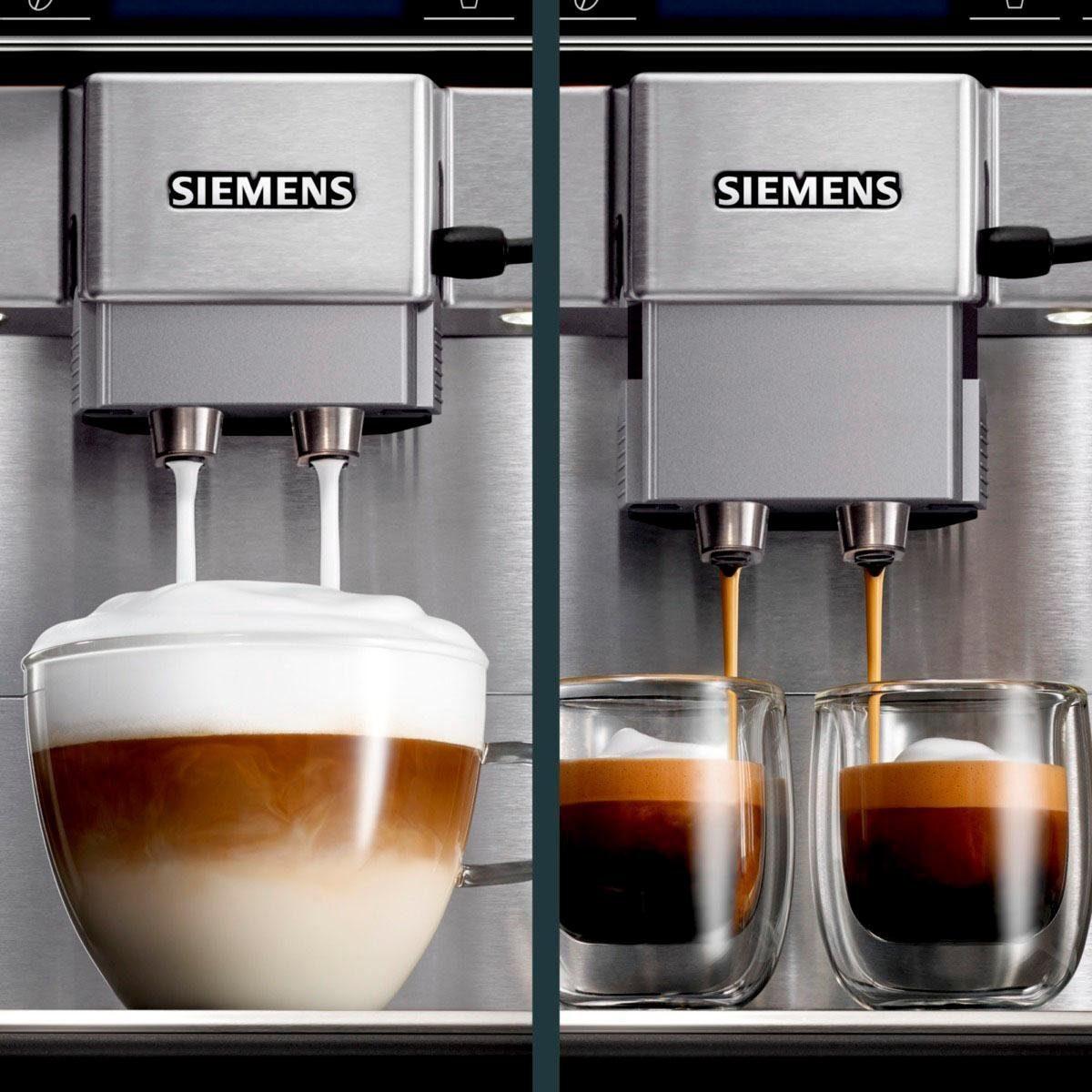 Bild 3 von SIEMENS Kaffeevollautomat EQ.6 plus s700 TE657503DE, automatische Reinigung, zwei Tassen gleichzeitig, 4 individuelle Profile, beleuchtetes Tassenpodest, Edelstahl